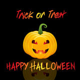Halloweenowy Trikowy lub funda tło Fotografia Stock