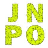 Halloweenowy umorusany listu jnpo Obraz Stock