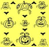 Halloweenowy ustawiający dekoracyjne banie Obraz Royalty Free