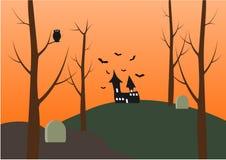 Halloweenowy ustawiający dla projekta ilustracja Obraz Royalty Free