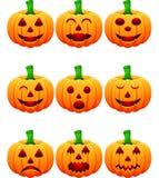 Halloweenowy ustawiający z baniami Zdjęcie Royalty Free