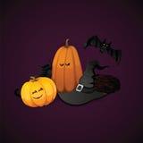 Halloweenowy wektorowy tło Ilustracja Wektor