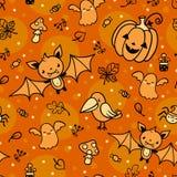 Halloweenowy wektoru wzór. Fotografia Royalty Free
