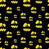 Halloweenowy wektoru wzór Zdjęcie Stock