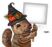 Halloweenowy wiewiórka znak royalty ilustracja