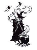 Halloweenowy Witchs parzenie ilustracji
