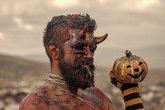 Halloweenowy zło, horror, piekła pojęcie obrazy royalty free