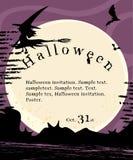 Halloweenowy zaproszenie plakat Zdjęcia Royalty Free