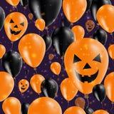 Halloweenowych balonów deseniowy kartka z pozdrowieniami Zdjęcia Royalty Free