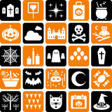 Halloweenowych Ikon Partyjni Symbole Zdjęcia Stock