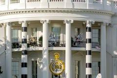 Halloweenowych spadek dekoracj bielu Prezydencki dom Obrazy Royalty Free