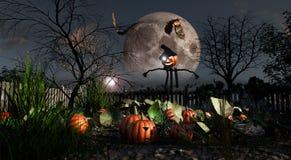 HalloweenPumpkinsScarecrow стоковое фото rf