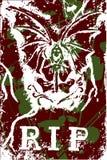 HalloweenRIP wings grünes Rot Lizenzfreie Stockfotos