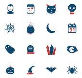 Halloweens Ikonen einfach Lizenzfreie Stockfotografie