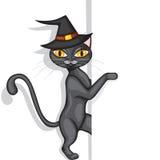 Halloweens kota zerknięcia ilustracji
