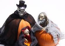 halloweens spookachtige pompoenen Stock Afbeelding