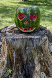 Halloweens watermelon Stock Photo