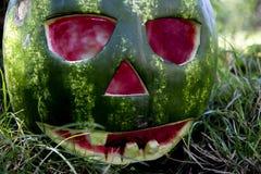 Halloweens watermelon Royalty Free Stock Photos
