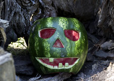 Halloweens watermelon Stock Image