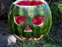 Halloweens watermelon Royalty Free Stock Images