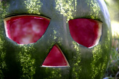 Halloweens watermelon Stock Photography