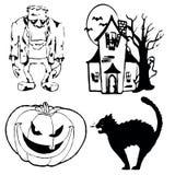 Halloweensymbols Imagens de Stock Royalty Free