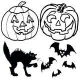 halloweensymbols Royaltyfri Illustrationer