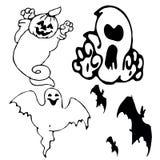 halloweensymbols Vektor Illustrationer