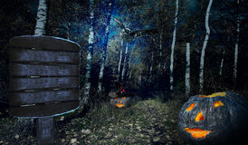 Halloweenv forest Stock Images