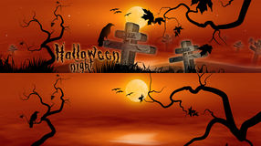 Hallowen Banners royalty free stock images