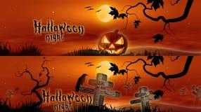 Hallowen Banners Stock Image