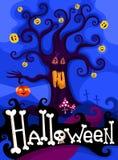 Hallowen card set. Vector Illustration of a hallowen card set Royalty Free Stock Photos