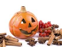 Hallowen decoration. Hallowen pumpkin lantern on white background Stock Image