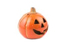 Hallowen decoration. Hallowen pumpkin lantern on white background Royalty Free Stock Photo