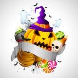 Hallowen Hintergrund Lizenzfreie Stockfotografie