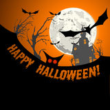 Hallowen invitation background Royalty Free Stock Images