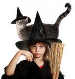 Hallowen lite häxan Arkivfoto