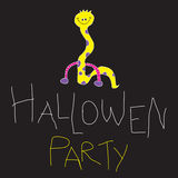 Hallowen Party 2. Funny Hallowen Party Card. For Kids and Teenagers PArty. Hand Made Royalty Free Stock Photos