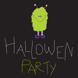Hallowen Party. Funny Hallowen Party Kids. Hand Made Stock Images