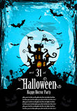 Hallowen Party Flyer for Entertainment Night Event Royalty Free Stock Image