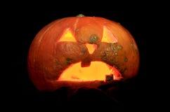 Hallowen pumpkin. Illuminated at dusk Royalty Free Stock Photos