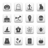 Hallowen simbols na sieć guzikach Zdjęcie Royalty Free