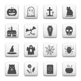 Hallowen simbols on web buttons Royalty Free Stock Photo
