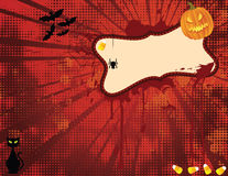 Hallowen Spooky Banner Royalty Free Stock Image