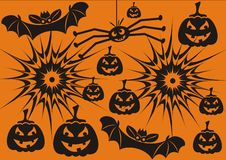 Hallowen symbols Royalty Free Stock Images