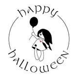Hallowen voodoodockafluga royaltyfri illustrationer