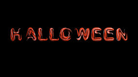 Hallowing night orange letters,  3d render Stock Images