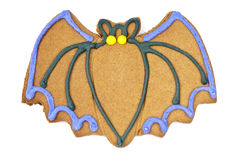 Hallowween Bat Cookie Stock Photo