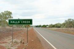 Halls Creek Sign - Australia Royalty Free Stock Photography