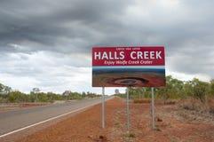 Halls Creek Sign - Australia Royalty Free Stock Image